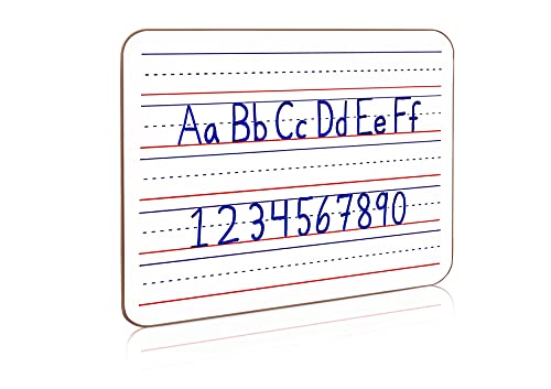 ScribbleDo Dry Erase Ruled Whiteboard l 9x12 inch Lined White Board Lapboard (Double Sided Whiteboard )