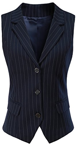 V VOCNI Women V-Neck Three Front Button Slim fit Waistvest Vest