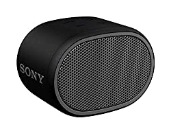 Sony SRS-XB01 Wireless Extra Bass Bluetooth Speaker with 6 Hours Battery Life, Splashproof Speaker with Mic, Loud Audio for Phone Calls (Black)