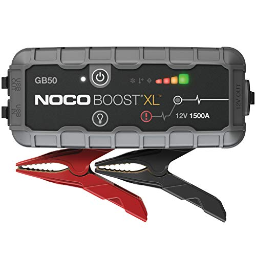 NOCO Boost XL GB50 1500 Amp 12-Volt UltraSafe Portable Lithium Car Battery Jump Starter Pack for Up to 7 Gasoline and 4-Liter Diesel Engines