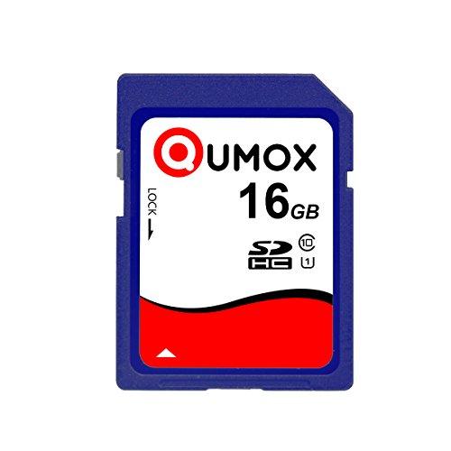 QUMOX 16GB Tarjeta de Memoria Seguro Digital SDHC Class 10 UHS-I