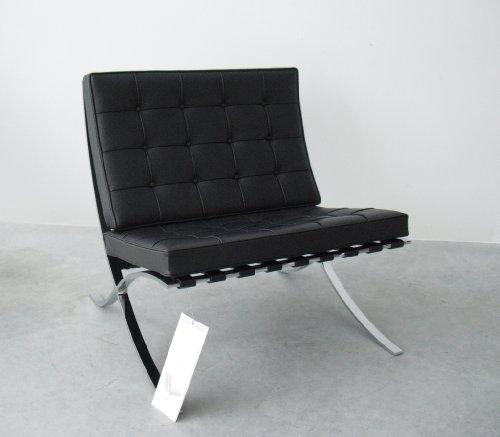 Barcelona Sessel/Mies van der Rohe/Knoll International/Leder schwarz/Designklassiker von Klingenberg