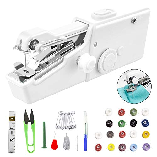 33 Pcs Handheld Sewing Machine, Mini Portable Electric Sewing Machine Cordless Stitch...