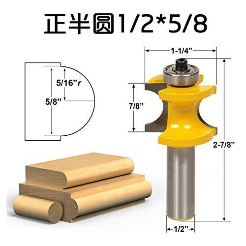 Richtige Messer Kugelfräser Holzschläger Fräser Correct Halbkreis Messer Schnitzen Maschine Zimmerei-Fräser (Größe : 10.5mm)