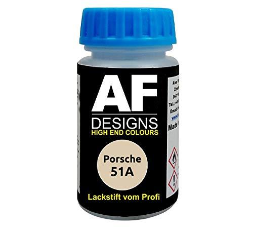 Lackstift für Porsche 51A Cremeweiss schnelltrocknend Tupflack Autolack