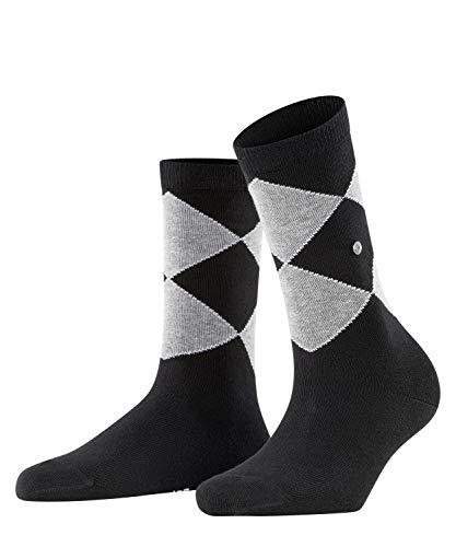 Burlington Damen Organic Argyle Socken, schwarz (Black 3000), 36-41