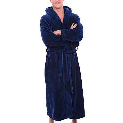 LianMengMVP Peignoir de Bain/Peignoir d'intérieur en Tissu éponge avec col Châle pour Homme et Femme 100% Coton