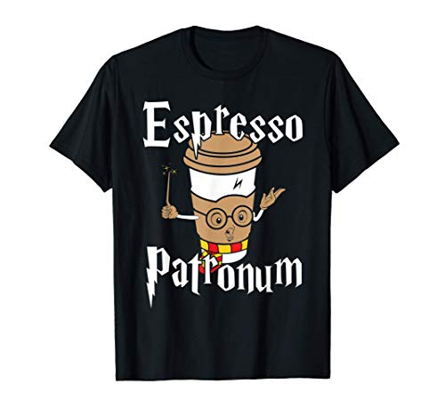 Funny Womens Espresso Patronum Cute Coffee Design T-Shirt