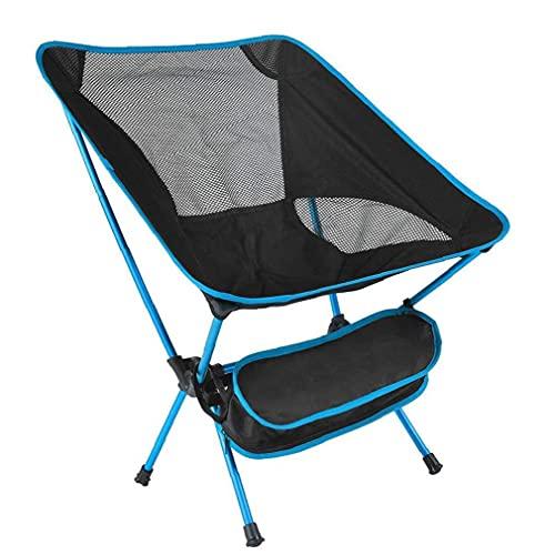 Silla Camping Senderismo Ligero Plegable Sistema de Picnic Pesca Portátil Taburete Azul, Patio Picnic Mesa y Silla