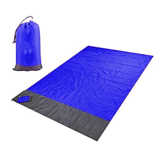 Hellery Estera Impermeable Portátil de La Manta del Bolsillo de Los 2m para La Tienda de Campaña Al Aire Libre de La Playa de La Comida Campestre - Azul Oscuro