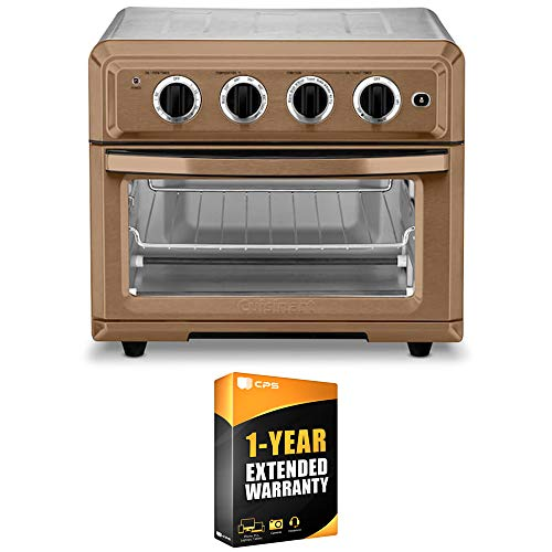 Cuisinart TOA-60C Convection Toaster Oven Air Fryer with Light Copper Bundle wtih 1 Year Extended Warranty