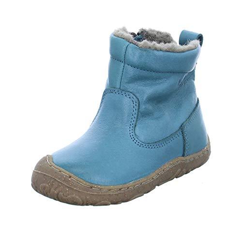 Froddo Kinder Stiefel G2160050 Unisex Jungen/Mädchen Winterstiefel Echtleder mit echter Schafwolle Blau (Petroleum) Größe 21 EU