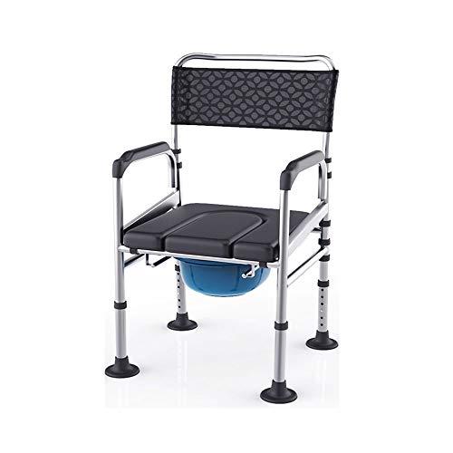 ZSEFV Height Adjustment Bedside Commode Chair Elderly Pregnant Women Safety Handrail Toilet Chair Best Love for Family