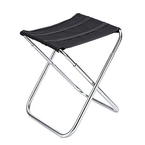 HHCS Chaise de Pêche Portable En Aluminium Tabouret De Pêche Mazar Chaise De Pêche Multi-fonction Pliant Stand Stable Taiwan Chaise De Pêche Chaise De Plage (24 * 22 * 28cm) Chaises et tabourets