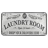 Laundry Room Kitchen Floor Mats Non-Slip Modern Polyester Indoor Outdoor Area Rugs Living Room Bath Doormat Home Decor Runner Rug, 39×20in