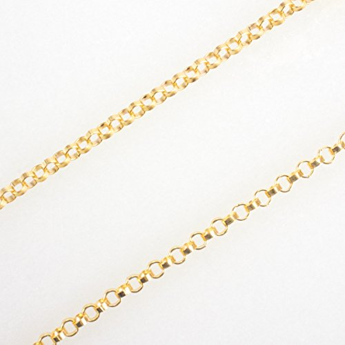 3 Feet 14k Gold Filled 1.1mm Rolo Chain, Made in USA