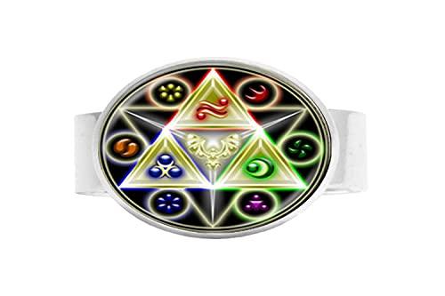 Astrología Pentagrama Art Photo Anillo de cristal para hombres y mujeres