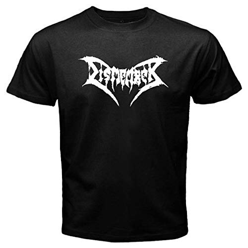 Dismember Death T-Shirt Graphic Tee Printed Top for Mens Black L