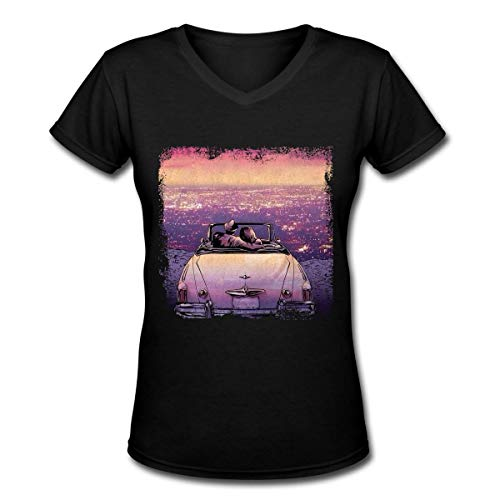 Sleeping with Sirens Camiseta de Manga Corta con Cuello en v de Algod¨®n de Moda para Mujer y Mujer Camiseta de Blusa Extragrande