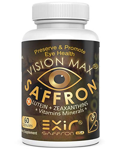 Vision Max® High Potency Supplement for Night Vision, Dry Eyes, Macular de Generation, Optic Nerve, Brain Health and More, 60 Capsules