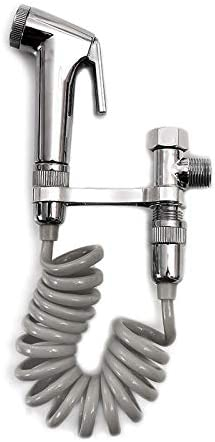 KIODS Faucet Handheld Portable Toilet Bidet Sprayer Set Bathroom Toilet Bidet Shower Head Sprayer Nozzle Adapter Shower Hose Wall Mounted