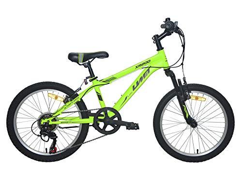 Umit 20 Bicicleta Pulgadas XR-200, Partir de 6 años, con Cambio y Suspension Delantera, Unisex niños, Verde