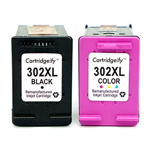 Cartridgeify 302XL Druckerpatrone Kompatibel HP 302 302XL Multipack, für HP Officejet 3830 3831 4650, Deskjet 1110 2130 2132 3630 3632 3637, Envy 4520 4524 4527 Schwarz + Farbe