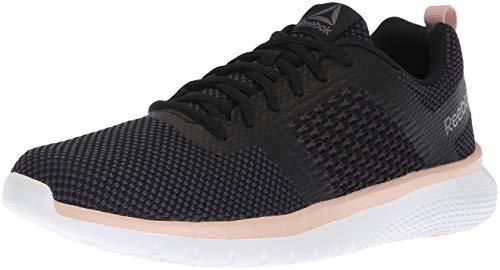 Reebok Women's PT Prime Runner Running Shoe, Black/Bare Beige/Alloy/co, 6 M US