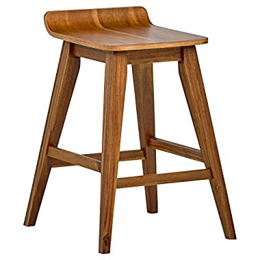 Stone & Beam Fremont Rustic Counter Stool, 25.5 H, Natural