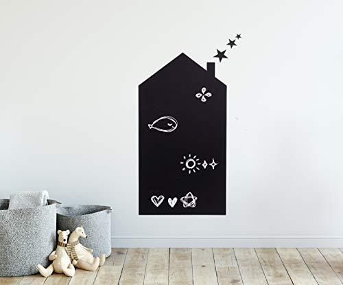 Vinilos pizarra infantiles, vinilos de pared decorativos infantiles adhesiva pizarra para dormitorios infantiles, salas de juego, guarderías, niños, Vinilo pizarra negra habitación de bebés.