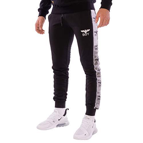 BOY LONDON - Pantaloni da jogging da uomo, colore: nero Nero M