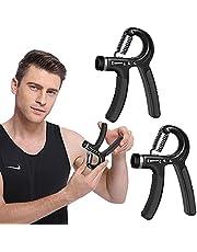 HUYIWEI Handtrainer, 2 stuks onderarmtrainers, handtrainer, vingerhalter, 5-60 kg verstelbare vingertrainer, gripkracht trainingsset voor krachttraining, fitness, klimmen (zwart)