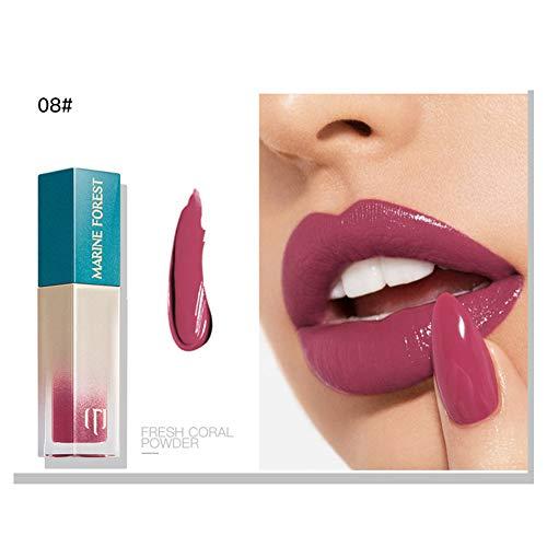 Flüssiges Lippenstift-Glanz-Pigment-Körperfarben-Samt, der befeuchtet