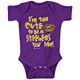 Rookie Wear by Smack Apparel Baltimore Football Fans. Too Cute (Anti-Pittsburgh) Purple Onesie (Onesie, 18 Month)