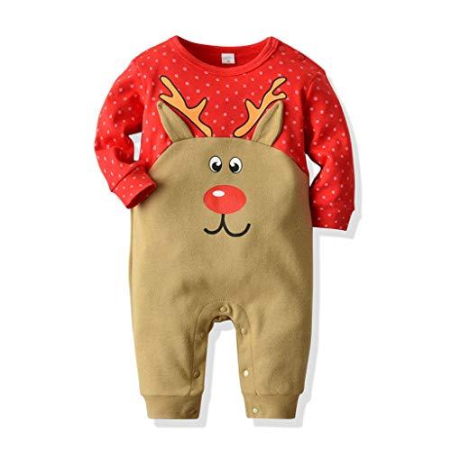 YWLINK Mameluco Bebe NiñO Manga Larga Dibujos Animados Animal Onesies OtoñO Vestidos De Una Pieza Escalada Ropa Navidad Ropa Abrigada Disfraces De Navidad Mono ReciéN Nacido Regalo Fiesta