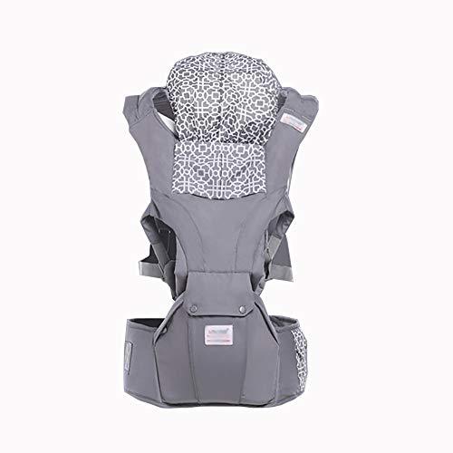 VDSON Infantino Classic Carrier Porte-bébé bébé Tout-Petits Sac à Dos for bébé en Maille Ergonomique avec Grande Accessoires Poches (Color : Gray)