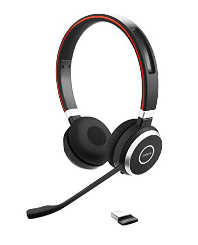 Jabra Evolve 65 Professionelles VoIP-Softphone Bluetooth Stereo Headset (geeignet für PC, Laptop, Smartphone und Tablet)