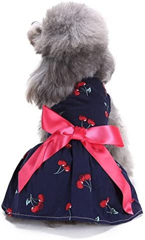Ollypet Dog Dress for Small Dogs Pet Clothes Navy 100% quality warranty! Summer Cute It is very popular Bl