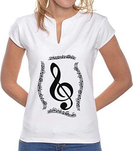 latostadora - Camiseta Clave de Sol para Mujer