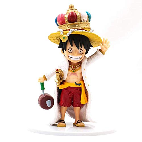 ymdmds High 18cm One Pieces Style King Crown Luffy King Carne Embalada Escultura Regalo Modelo Ilustraciones Anime