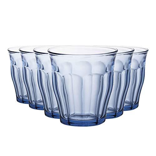 Picardie - Juego de Vasos Bajos de Colores - para Agua, Zumo,...