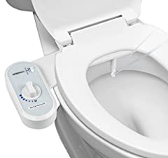 Durable high quality toilet seat attachment bidet for optimum personal hygiene Easy do-it-yourself installation with no special tools required, detailed instructions Included Easy-access control dial for instant pressure and nozzle adjustment. Non el...
