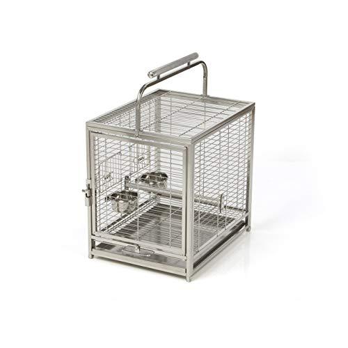 Montana Cages ® | Edelstahlkäfig | Transportkäfig EVO für Sittiche & Papageien, der Reisekäfig