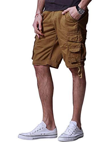 Match Men's Twill Comfort Cargo Short Without Belt #S3612 (Label Size 6XL/44 (US 42), Mud)