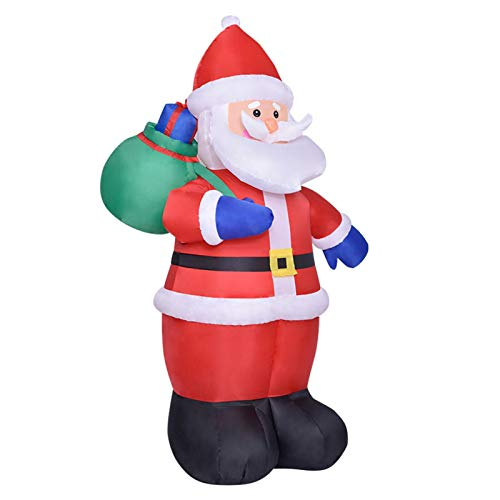 8 Foot Christmas Inflatables Santa Claus with Lights, Christmas Blow Up Yard Decoration Greeting Santa Claus Inflatable with LED Lights for Indoor Outdoor Yard Lawn Art Christmas Decoration