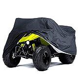 Cubierta negra para cuatrimoto impermeable 78 x 37ix41 pulgadas L Quad ATC 4 fundas para ruedas para todas las estaciones al aire libre protección UV para Kawasaki Yamaha Suzuki Honda Polaris