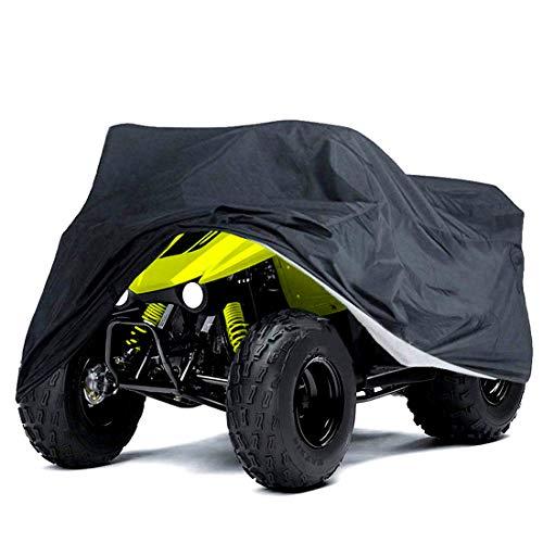 Cubierta negra ATV impermeable 78 x 37ix41 pulgadas L Quad ATC 4 ruedas cubiertas para todas las estaciones al aire libre protección UV para Kawasaki Yamaha Suzuki Honda Polaris