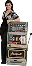 3 ft. 10 in. Slot Machine Vegas Casino Standee Standup Photo Booth Prop Background Backdrop Party Decoration Decor Scene Setter Cardboard Cutout