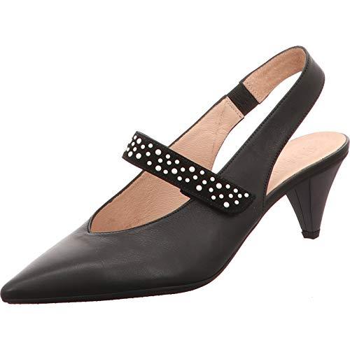 Hispanitas - Zapatos de vestir de Piel Lisa para mujer Negro negro,...