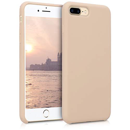 kwmobile Hülle kompatibel mit Apple iPhone 7 Plus / 8 Plus - Handyhülle gummiert - Handy Hülle in Perlmutt